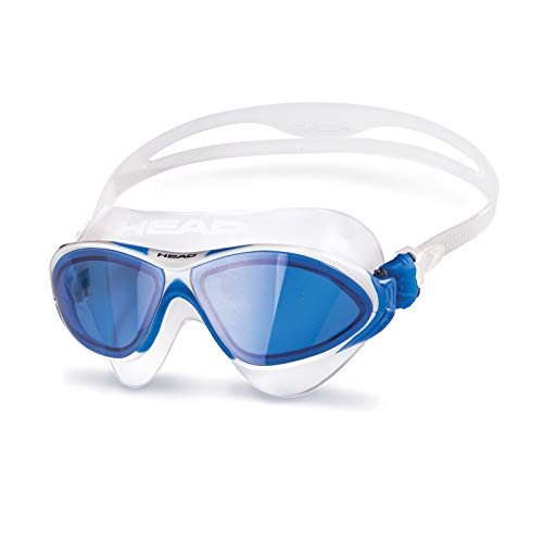 HEAD Erwachsene Schwimmbrille Horizon Sil, Clear-White Blue, One Size