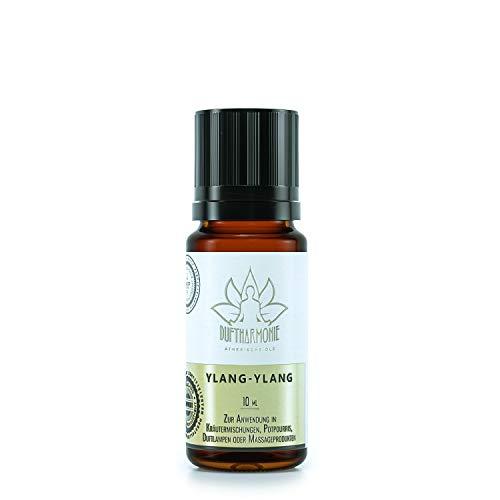 Ätherische Öle von DuftHarmonie   10ml Duftöle für Diffuser, Duftlampfen   100% Naturrein Essential Oil   Pflanzliche Aromatherapie für Luftbefeuchter, Massagen, Enstpannung (Ylang-Ylang)