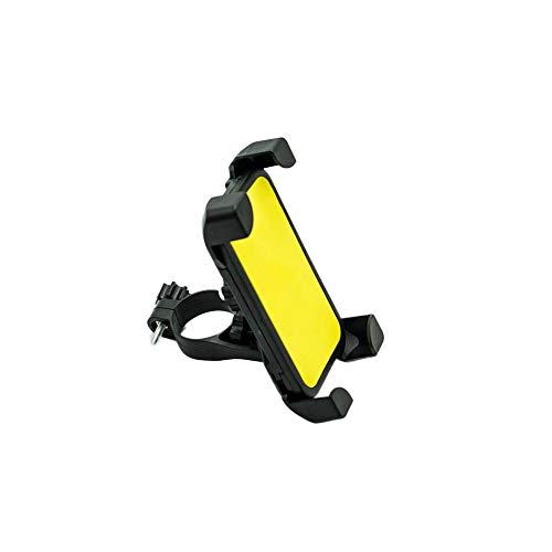 CHENWEI- Soporte de teléfono para bicicleta y motocicleta, giratorio 360 grados, soporte para teléfono móvil, espejo retrovisor (color: amarillo)
