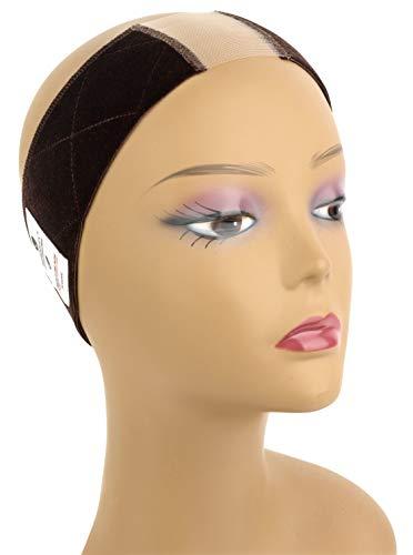 MainBasics Lace Velvet Wig Grip Band Adjustable Wig Comfort Band, Brown