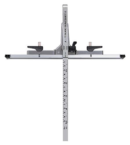 シンワ測定(Shinwa Sokutei) 丸ノコガイド定規 Tスライド スリムシフト 2 15cm 併用目盛 73541