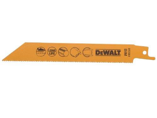 DeWalt BI-Metall Metallsäbelsägeblätter (Gesamtlänge: 152 mm, Zahnteilung: 1.8 mm, für schnelle Schnitte in Metallen, Blechen, Rohren und Profilen bis 3 mm) DT2361