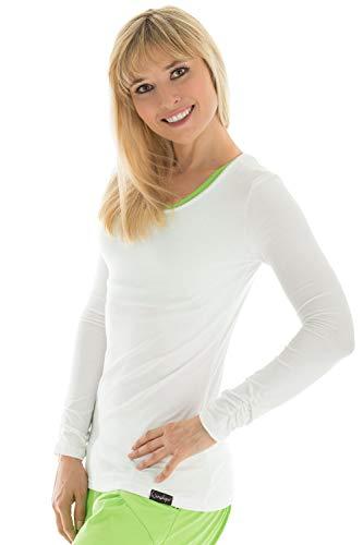 Winshape WS1 Tee-Shirt à Manches Longues pour Femme Coupe étroite pour Loisirs et Sport XL Blanc - Blanc