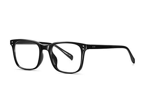 SKILEC Gafas Anti Luz Azul Gafas Ordenador Gafas Lectura Hombre Mujer Antifatiga Filtro Protección Azul UV Gafas Presbicia Hombre para PC, Gaming, TV Tablet Videojuegos Lentes Transparentes (Negro)
