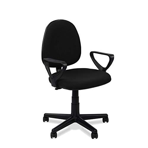 Adec - Danfer, Silla de Escritorio, Silla de Oficina o de Despacho, Color Negro Medidas: 54 x 79-91
