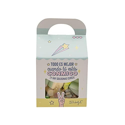 Mr. Wonderful Caja de golosinas, Multicolor, Estandar