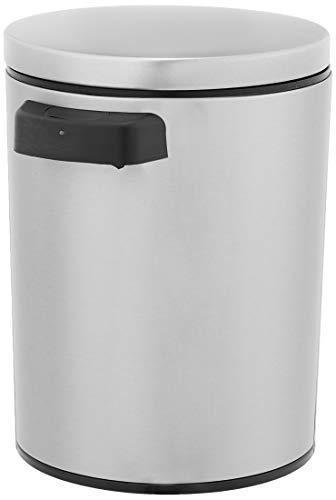 Amazon Basics - Cubo de basura automático de acero inoxidable, rectangular, 5 litros