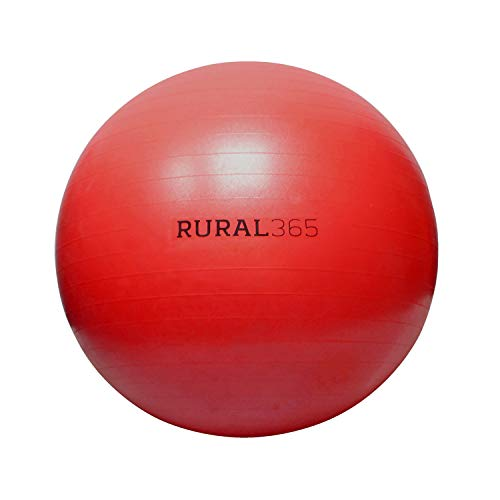 Rural365 Large Horse Ball Toy in Red, 30in Ball Anti-Burst Giant Horse Ball – Horse Soccer Ball, Pump Included
