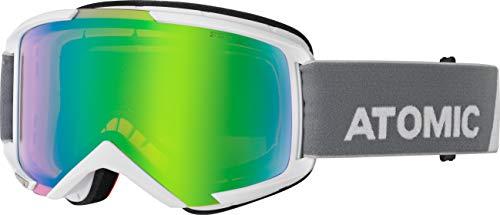 ATOMIC Unisex– Erwachsene Savor Goggles, Weiß/Grün Stereo, One Size