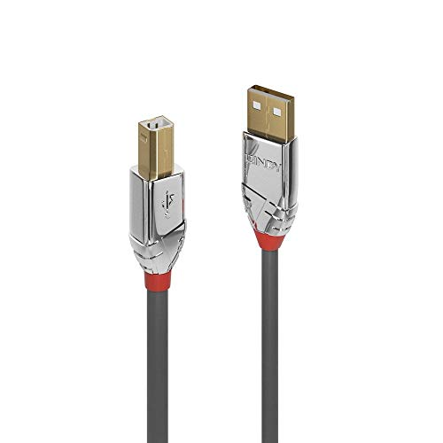 Lindy, Cavo USB 2 Tipo a A B Cromo Line, 0.5M