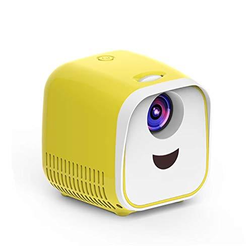 Proyector LED, 1080p Wifi Home Theater Multi-Screen Beamer, proyector de película portátil con 50.000 horas de vida de la lámpara LED, compatible con Hdmi, Vga, Tf, Av y Usb (color: amarillo)