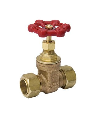 "Mueller Gate Valve Lead Free 3/4 "" Compression X 3/4 "" Compression Copper from Mueller Industries"