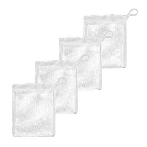"""Aquarium Mesh Media Filter Bags - High Flow - with Drawstrings for Activated Carbon - Reusable Fish Tank Charcoal Filter Bag - Aquatic Bags for Fresh or Saltwater Tanks (High Flow 3"""" x 4"""" (4 Pack))"""