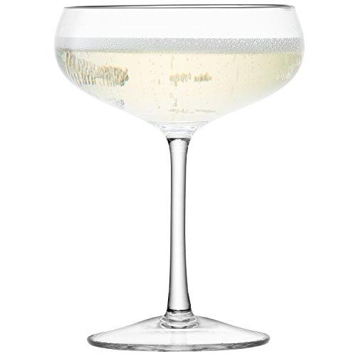 LSA International Lot de 4 Coupes à Champagne 215 ML Transparent