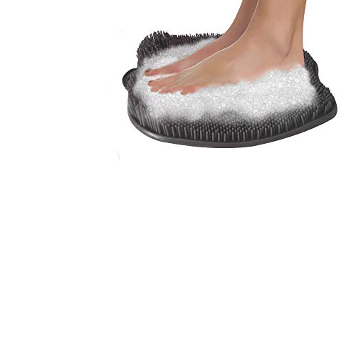 Shower Foot Massager Scrubber & Cleaner - Improves Foot Circulation & Reduces Foot Pain (Grey)