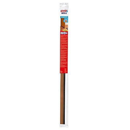 tesa H0543304 SAS 543300104 Isolierende Bürste für Türblatt-Unterseite, Brown, 1m x 37mm
