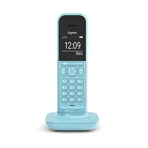 Gigaset CL390HX Universal Mobilteil - Design Telefon kompatibel mit Fritzbox und HD Voice Freisprechfunktion - schnurloses DECT Telefon mit großem Grafik Display, Purist Blue