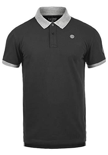 Blend Ralf Herren Poloshirt Polohemd T-Shirt Shirt Mit Polokragen Aus 100% Baumwolle, Größe:XL, Farbe:Phantom Grey (70010)