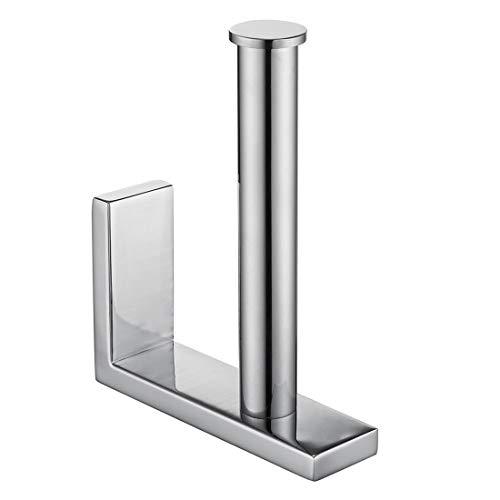 Aothpher Toilettenpapierhalter Wand Befestigter SUS304 Edelstahl Klorollenhalter Moderne Badezimmer Vertikal WC Rollenhalter, Chrom Poliert