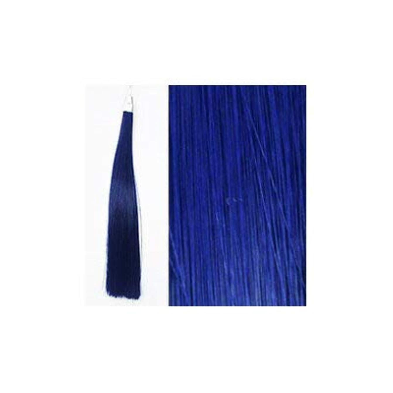 パドル怠感気体のカミエク ヘアーエクステンション ブルー 4本毛