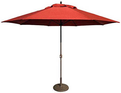 Tropishade 11' Umbrella with Premium Red Brick Olefin Cover (Base not Included)