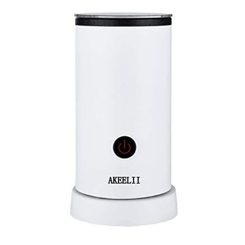 Akeelii Automatischer Elektrisch Milchaufschäumer Milcherhitzer für kalte und warme Milch Aufschäumen Geräuschloser Betrieb Edelstahl Antihaftbeschichtung,Abschaltfunktion (Weiß)