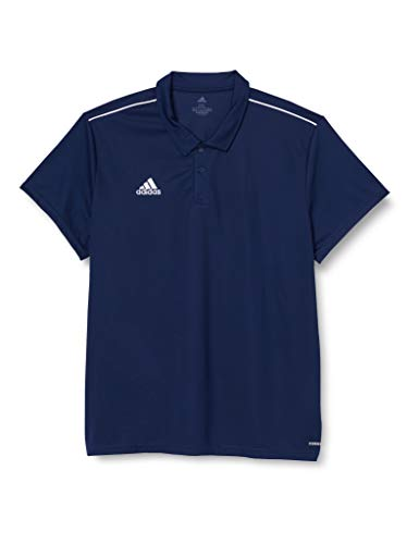 adidas Core18, Polo. Uomo, Dark Blue/White, 3XL