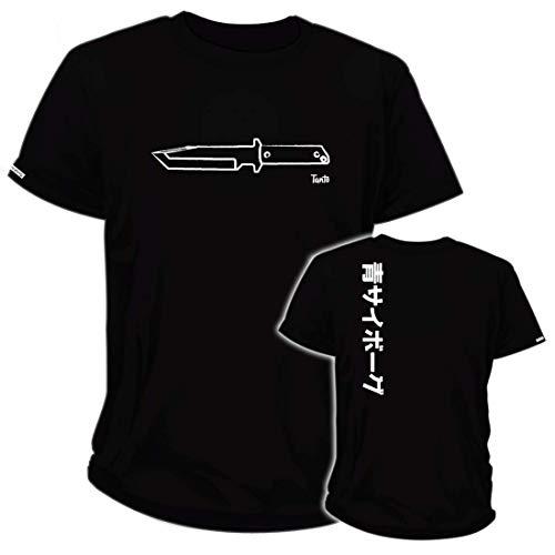 BlueCyborg Blade Sketches - Tanto Knife T-Shirt Black