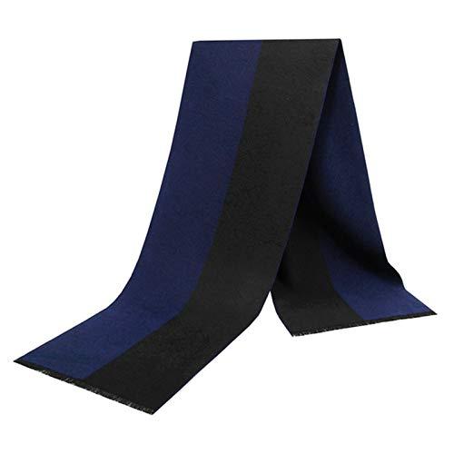 SonMo Baumwolle Herren Herbstschal Winterschal Großer Schal Damen Warm Pure Farbe Gebürstet Deckenschal für Geschäftliche Anlässe für Jeden Alters Graue Marine 180×30CM