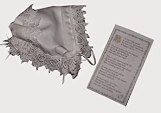 Ivory Handkerchief Magic Bonnet Made with Heart Venice Lace for Baptism or Homecoming