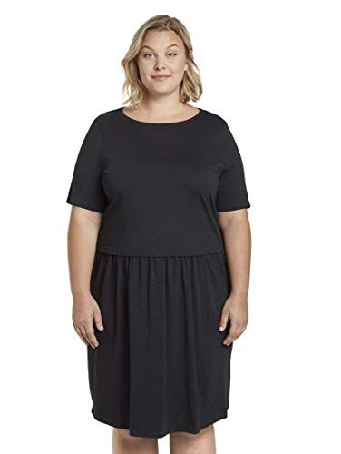 TOM TAILOR MY TRUE ME Damen Feminine Kleid, 14482-Deep Black, 50