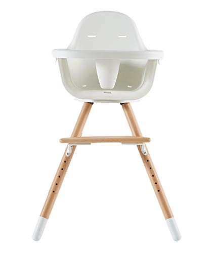 Asunflower Wooden High Chair Modern Adjustable Feeding Baby Highchairs Solution with Tray for Baby/Infants/Toddlers