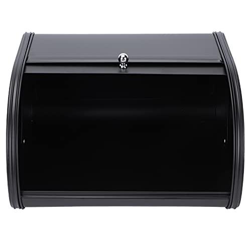 Cabilock Caja de Pan con Tapa Superior de Rollo de Hierro Caja de Pan de Almacenamiento para Cocina Mostrador de Alimentos Secos Pan Pan Pan Cena Rollos Pasteles Contenedor
