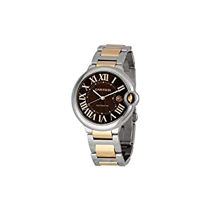 Cartier Men's W6920032 Ballon Bleu Chocolate Brown Dial Watch image
