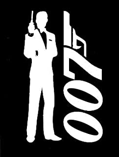 LLI James Bond 007 | Decal Vinyl Sticker | Cars Trucks Vans Walls Laptop | White | 5.5 x 3.3 in | LLI1059