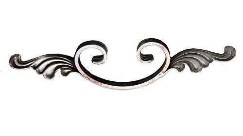 UHRIG ® NEU! Ornament Schmiedeeisen C-Bogen mit Zierelement 80x325 mm #580