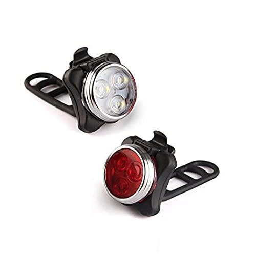 Naisicatar 1 par de luces LED para bicicleta muy brillantes en la niebla manillar asiento poste bicicleta luz led montaje rana luz simple ciclismo rojo y blanco