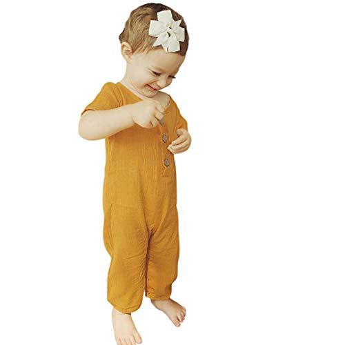 ODRD Unisex Kinderbekleidung Clearance Sale Sommer-Säuglingsbaby-Jungen Mädchen-Kurzschluss-Hülsen-Rüschen-feste Spielanzug-Overall-Kleidung Kinder Kleinkind Kleidung Body Babyschlafsack Sommer
