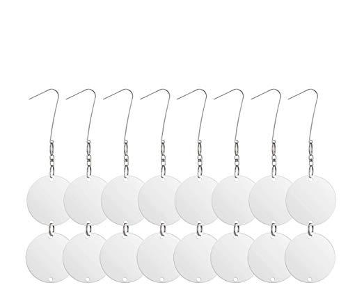 Lifetime Garden ANISTA Vogelabwehr Scheiben. 16 reflektierende Edelstahl Discs Als Vogelschreck und Taubenabwehr