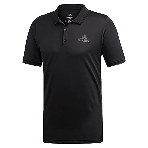 adidas Men's Tennis Freelift Polo Black Large