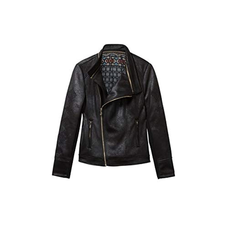 デシグアル(Desigual) ライダースジャケット 黒 Marble