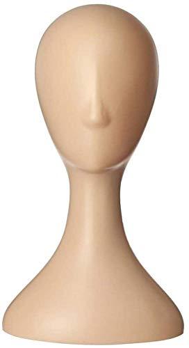 Mannequins de couture reglable Perruque, Femme Plastique Résumé Mannequin Mannequin Modèle de tête Perruque de Cheveux Présentoir Peau Porte vêtement Mannequin (Color : Skin)