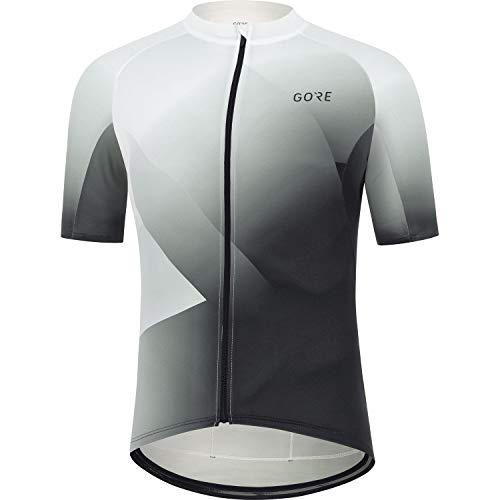 GORE WEAR Herren Fahrrad-Kurzarmtrikot Fade, XL, Weiß/Schwarz