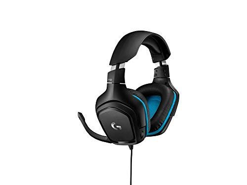 אוזניות גיימינג Logitech G432 7.1 עם מיקרופון בצבע שחור