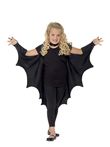 Smiffy's - Alas de murciélago Vampiro, Negras, Color, Tamaño único (44414)