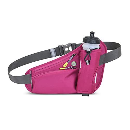 TTCI-RR Fanny Pack Outdoor Waist Belt Running Bag Portable Ultralight Sport Waist Pack Phone Holder for Trailing Running Camping Hiking Waist Bag (Color : Rose red)