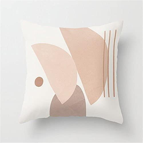 NBEEGFG Almohada nórdica con impresión abstracta para sala de estar, sofá, funda de almohada para coche, decoración de cabecera, almohada grande (color: 6, especificación: 60 x 60 cm)