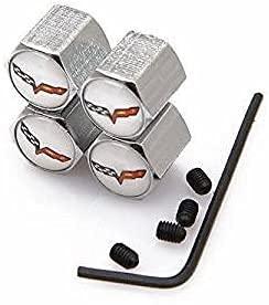 4 Piezas Neumáticos Tapas Válvulas para Chevrolet All Models with wrench, Antipolvo Tapones de Coche Decoración Accesorios
