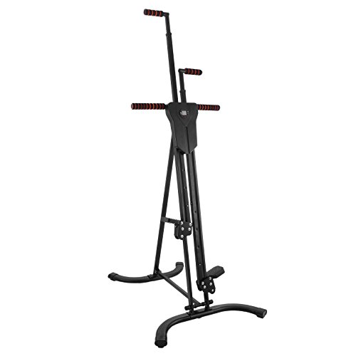 Popsport 440LBS Climber Machine Fitness Stepper Climber Exercise Equipment Vertical Climber for Home Gym Exercise Stepper Cardio Climbing System (P8008,Black)
