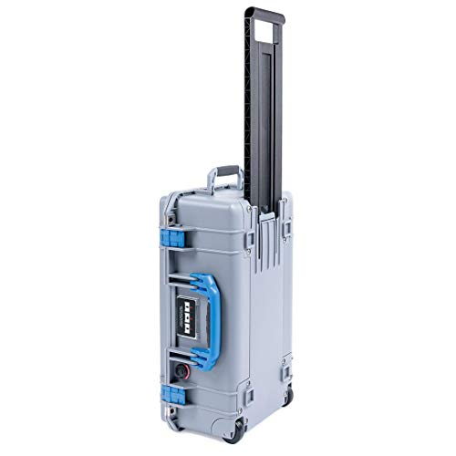 Silver & Blue Colors Series 1535 Air case NO Foam. with Wheels.